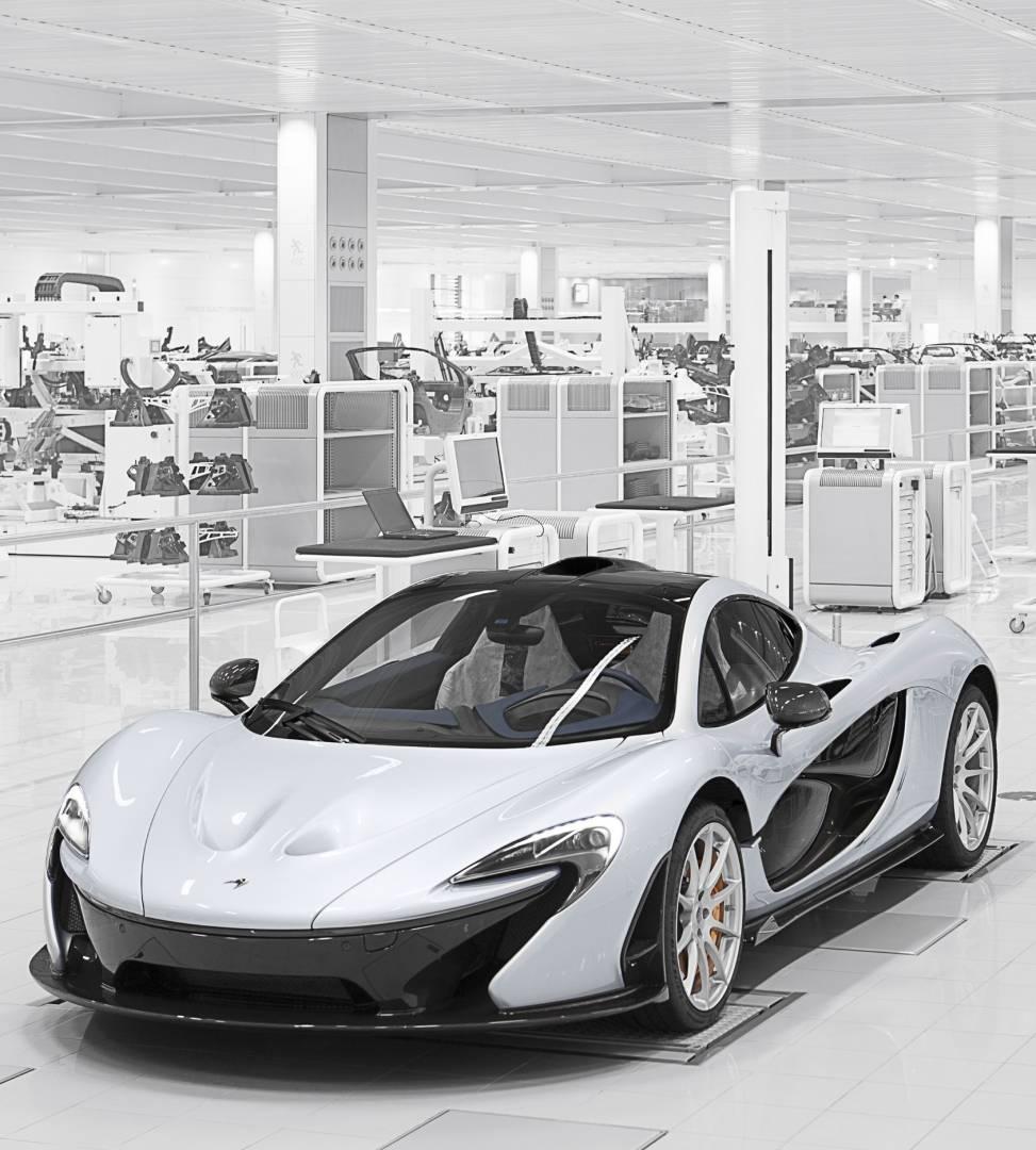 Production line of the McLaren P1.