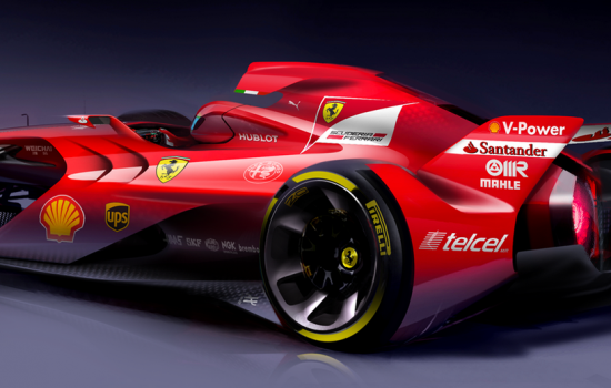 Ferrari has released pictures of a stiking new F1 concept car