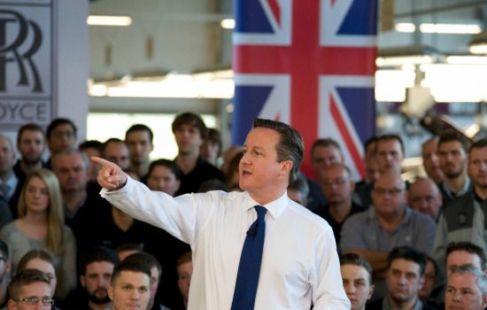 Prime Minister David Cameron visits the home of Rolls-Royce Motor Cars