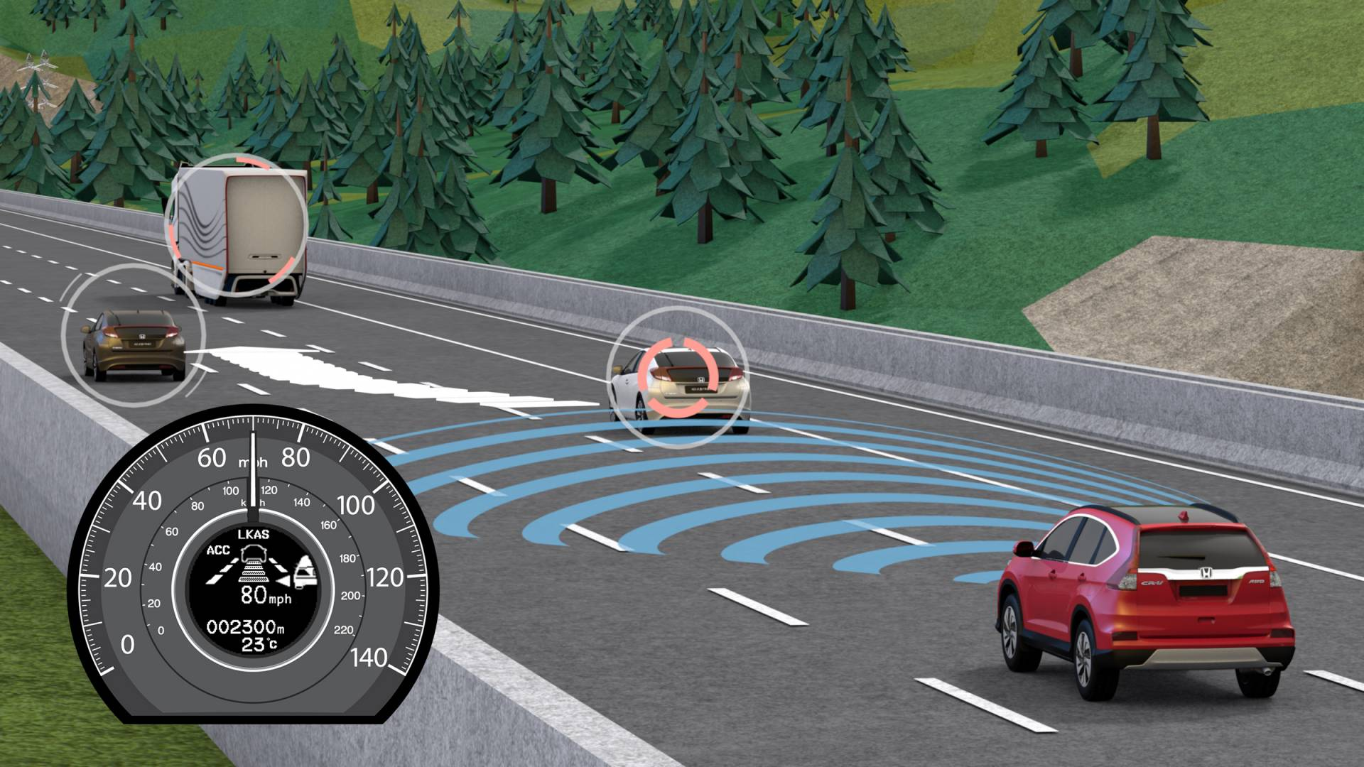 Honda is set to introduce the worlds first predictive safety cruise control system