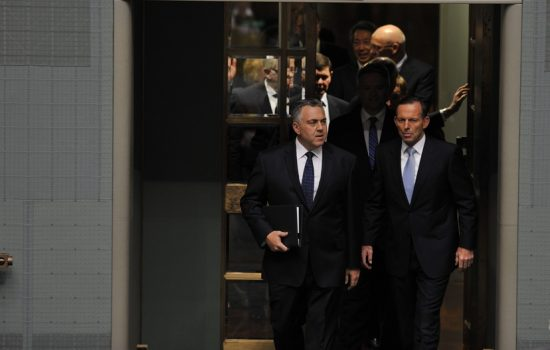 Tresurer Joe Hockey and Prime Minister Tony Abbot - image courtesy of Joe Hockey.