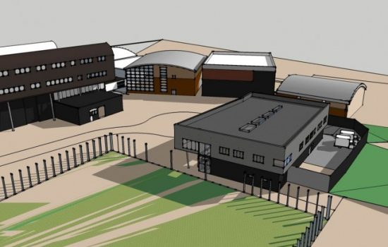 How the new centre (right) will fit into the existing Furness College site