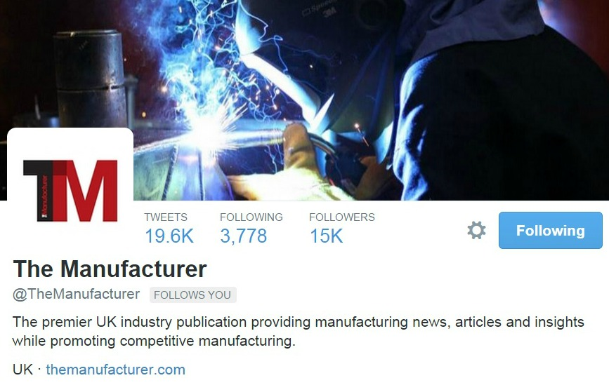 @TheManufacturer surpasses 15,000 engaged followers on Twitter.