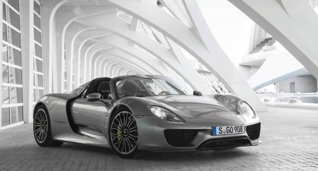 The 918 Spyder, Porsche's advanced plug-in hybrid supercar.