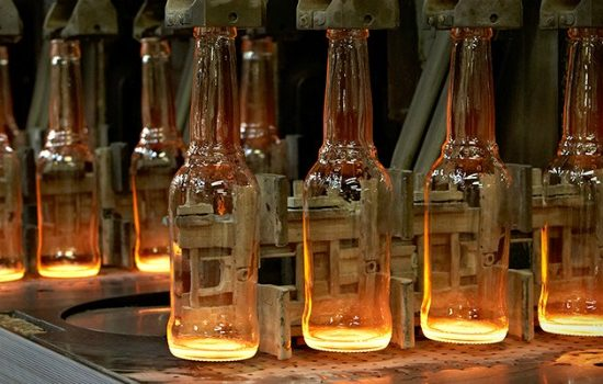 Bottle production process at Encirc Glass.