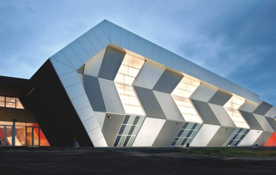 A showcase building in Maribyrnong demonstrating the use of Bluescope steel on its exterior - image courtesy of Bluescope Steel