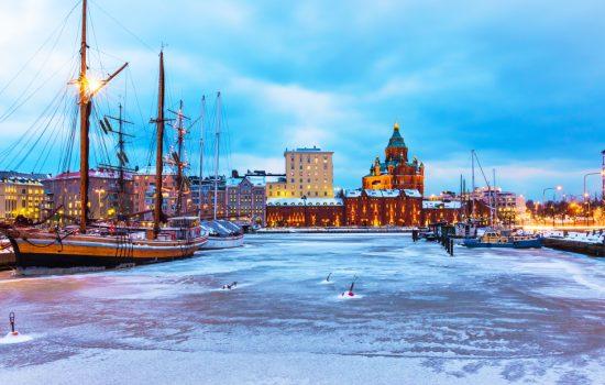 Winter in Helsinki, Finland.