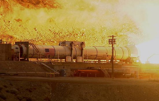 NASA test the rocket booster for their Space Launch System at Utah. Photo courtesy of NASA