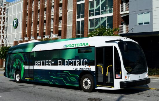 Seneca in South Carolina is to implement a fleet of Proterra electric emission-free buses - image courtesy of Proterra.