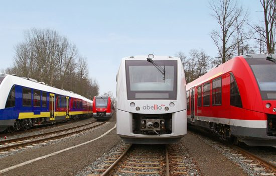 The new emission-free trains will be based on the Alstom Coradia platform which is currently used by various operators and manufactured by Alstom in Salzgitter - image courtesy of Alstom