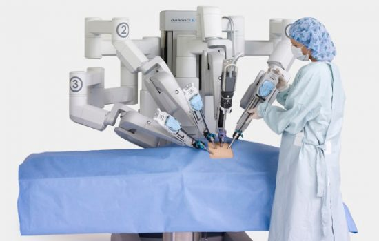 ARM's new chip could be used in medical robots. Image Courtesy of Intuitive Surgical