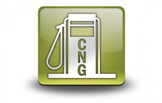 Compressed natural gas refuel fuel logo - image courtesy of DFC
