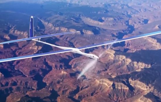 A Titan Solara 50 drone during a test flight - image courtesy of Titan Aerospace.