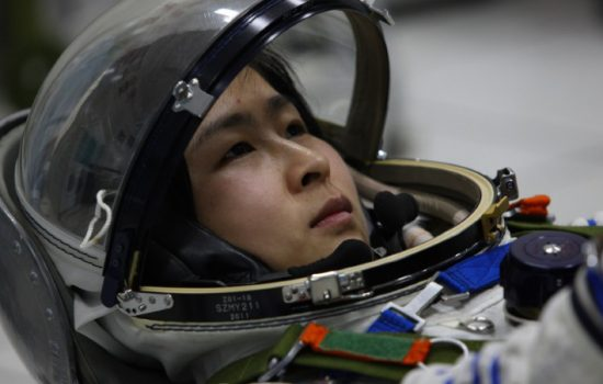 A Chinese astronaut prepares to travel into space - image courtesy of Chinese Manned Space Engineering.