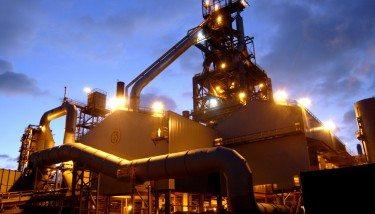 Tata Port Talbot works blast furnace.