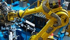 Robots operating in one of the Chassix plants - image courtesy of Chassix