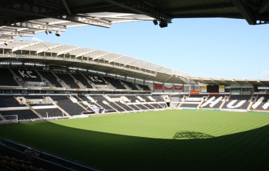 This summer KC Stadium, home to Hull Tigers, will upgrade its pitch lighting to LED enhancing the football match experience for both players and fans - image courtesy of Philips