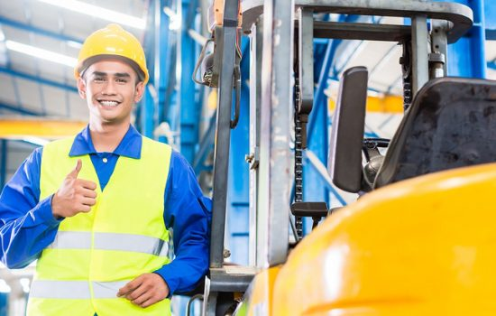 Many accidents involving forklifts in the workplace are easily avoidable so long as companies follow some simple rules - image courtesy of Yale UK