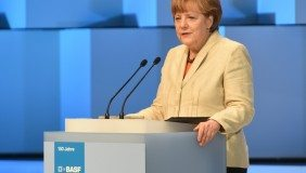 During her speech in the BASF Feierabendhaus, Dr Angela Merkel, the Chancellor of the Federal Republic of Germany, congratulatef BASF on its 150th anniversary - image courtesy of BASF.