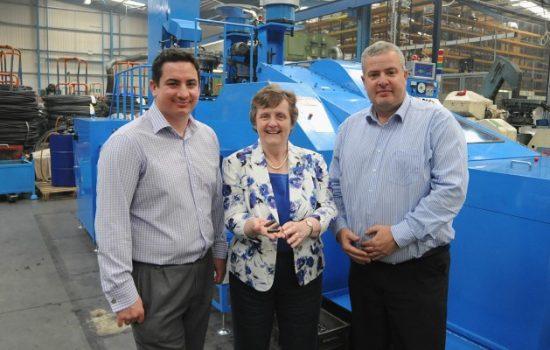 Image L to R: Aaron Milborrow, operations director ( Barton Coldform); Anthea McIntyre MEP, & Andrew Nuttall, MD ( Barton Coldform).