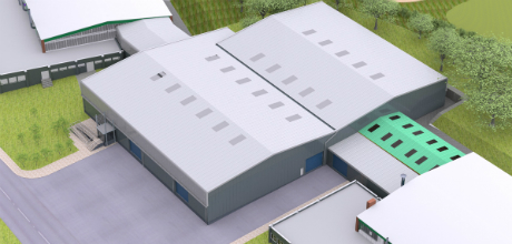 How the new manufacturing facility at Lockheed Martin UK's Ampthill site will look.