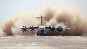 The Airbus A400M Atlas is a multi-national four-engine turboprop military transport aircraft - image courtesy of Airbus.