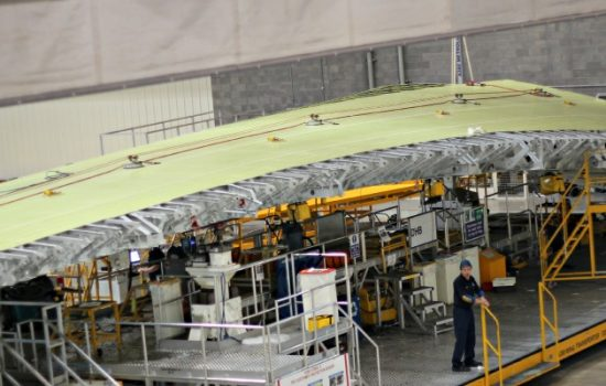 Airbus A380 wing manufacture