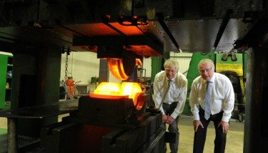 Expectign the new forge at Kimber Drop Forgings is Geoff Turbull and Larry Joyce.