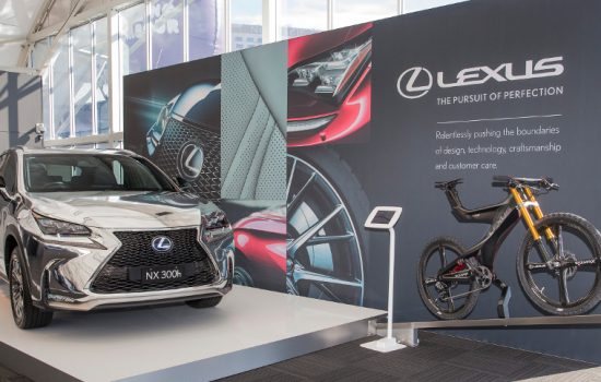 The NXB concept bicycle will be on display alongside a chrome-liveried Lexus NX SUV at The Good Design Awards - image courtesy of Lexus.