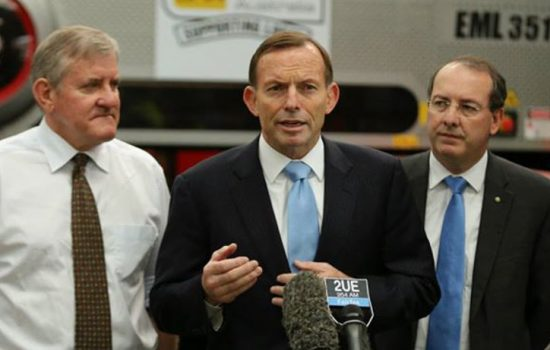 Minister for Industry and Science, Ian Macfarlane MP (left) with Prime Minister Tony Abbott (centre) - image courtesy of Ian Macfarlane