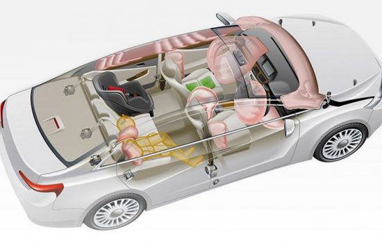 A car fitted with Takata airbags, subject to a huge product recall. Image courtesy of Takata Corp.