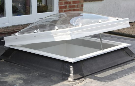 Modular Dome Rooflights are installed in such a way that once bolted in, there is no tampering with them in the absence of special tools - image courtesy of Whitesales.