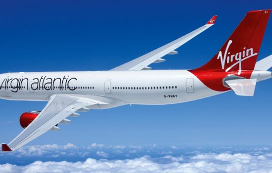 Virgin Atlantic A330 aircraft - image courtesy of Virgin Atlantic, PRNewsFoto & Honeywell Aerospace.