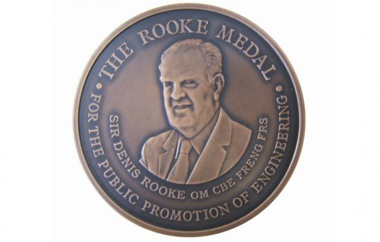 Royal Academy of Engineering Rooke Award for his outstanding contribution to the public promotion of engineering.