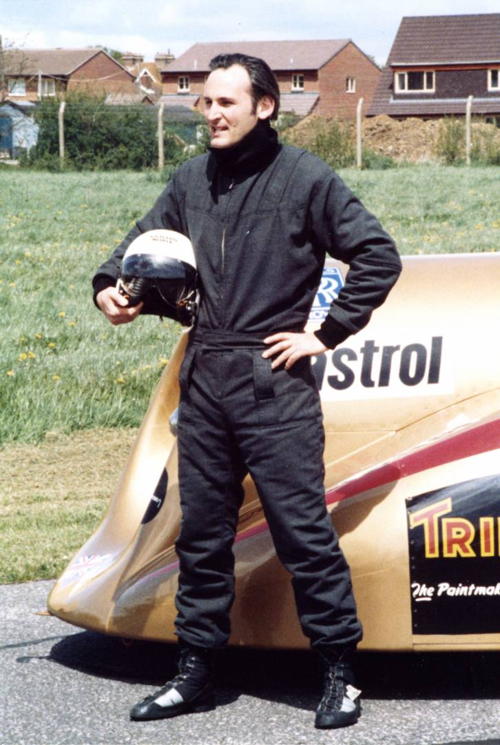 Nobles says he had an infatuation with going fast any way he could ever since he was a child. This led to him piloting land speed record-car, Thrust II in 1983.