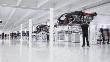 Production at the McLaren Technology Centre