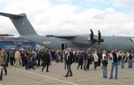 The Airbus A400M at the Paris Air Show 2013. Airbus has confirmed that the troubled aircraft will be on display at the Paris Air Show 2015 - image courtesy of Wikicommons.