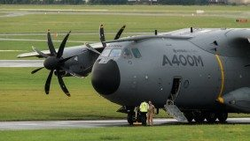 An Airbus A400M transport aircraft. Image courtesy of Airbus.