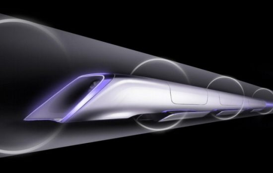 The Hyperloop is to carry passengers at up to 750mph through a tube from Los Angeles to San Francisco - image courtesy of SpaceX