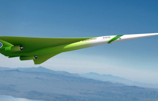 A rendering of the Lockheed Martin future supersonic advanced concept featuring two engines under the wings and one on top of the fuselage - image courtesy of Lockheed Martin and NASA.