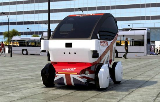 RDM Group's electric powered LUTZ Pathfinder pods can seat two people, reach a maximum speed of 12 mph and boasts a range of 40 miles.