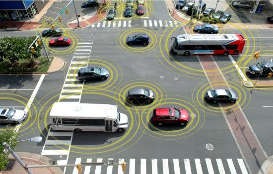 Autonomous Vehicle - Networked cars will become more common in the future. Image courtesy of the US Department of Transportation.