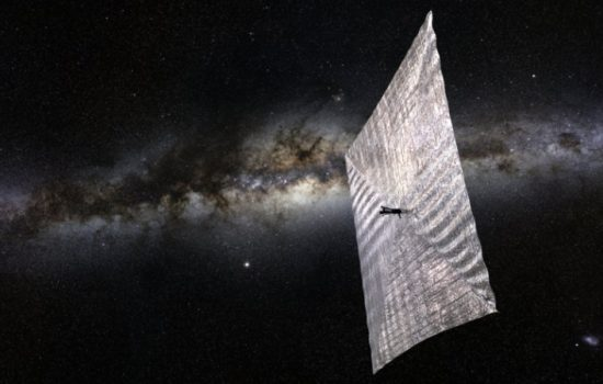 The LightSail space craft. Image courtesy of The Planetary Society.