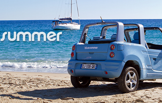 The Bollore Blue Summer car - image courtesy of Bollore
