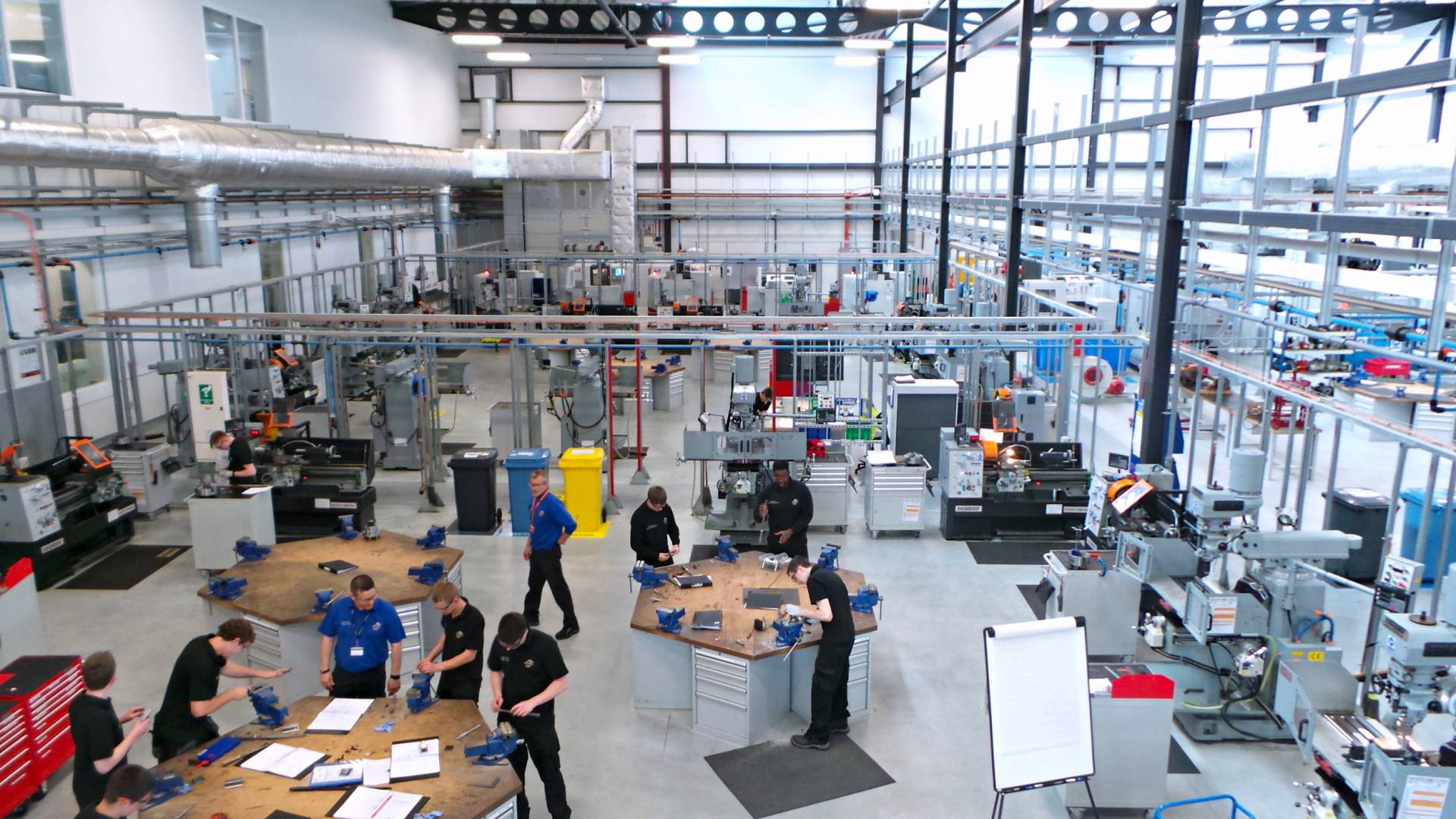 Advanced Manufacturing - The workshop floor of the AMRC Training Centre, in Catcliffe, Rotherham – image courtesy of the AMRC Training Centre.