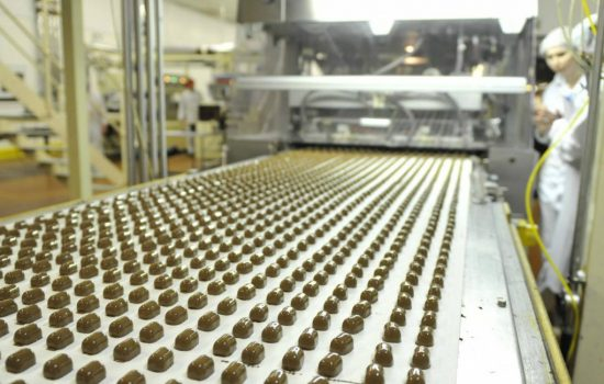 Thorntons chocolate production line