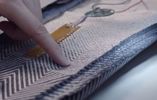 Fabric woven with the Project Jacquard conductive yarn. Image courtesy of Google.