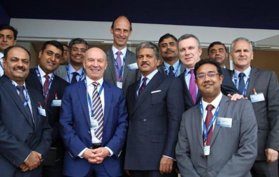 The Airbus Group and the Mahindra Group revealed the expansion of their relationship from design to manufacturing at the Paris Air Show, 2015 - image courtesy of Mahindra
