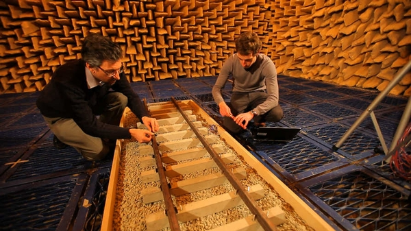 Scale track model tests for noise radiation and absorption  - University of Southampton.