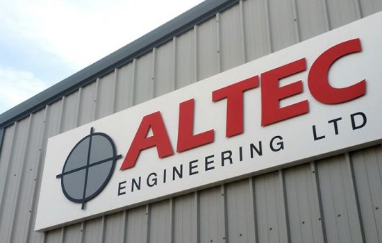 Altec Engineering Main Building Sign